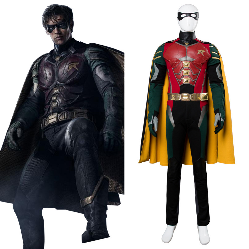 Titans Richard Grayson Robin Cosplay Costume tenue super-héros Halloween carnaval Costume combinaison pour adulte hommes femmes personnalisé