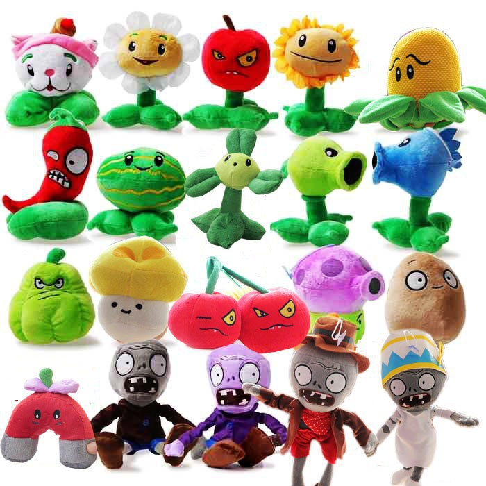Oyuncaklar ve Hobi Ürünleri'ten Doldurulmuş ve Peluş Bitkiler'de 20 adet/grup Bitkiler vs Zombies peluş oyuncaklar 13 20 cm Moda Oyunları PVZ Dolması Yumuşak Oyuncak Bebek Bebek Oyuncak çocuklar Hediyeler parti oyuncakları'da  Grup 1