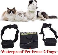 Waterdichte Veiligheid Pet Training Controle Ondergrondse Elektrische Apparaat Hond Fence Hekwerk 2 Shock Kraag