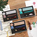 Mohamm Diy Briefmarken für Brief Abdichtung Scrapbooking Benutzerdefinierte Wachs Dichtung Stempel Kit mit Siegellack Schreibwaren