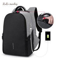 RURU monkey Anti Theft Backpack Usb Charging Backpack Men's Personality Laptop Business Travel Backpack Versatile Bags