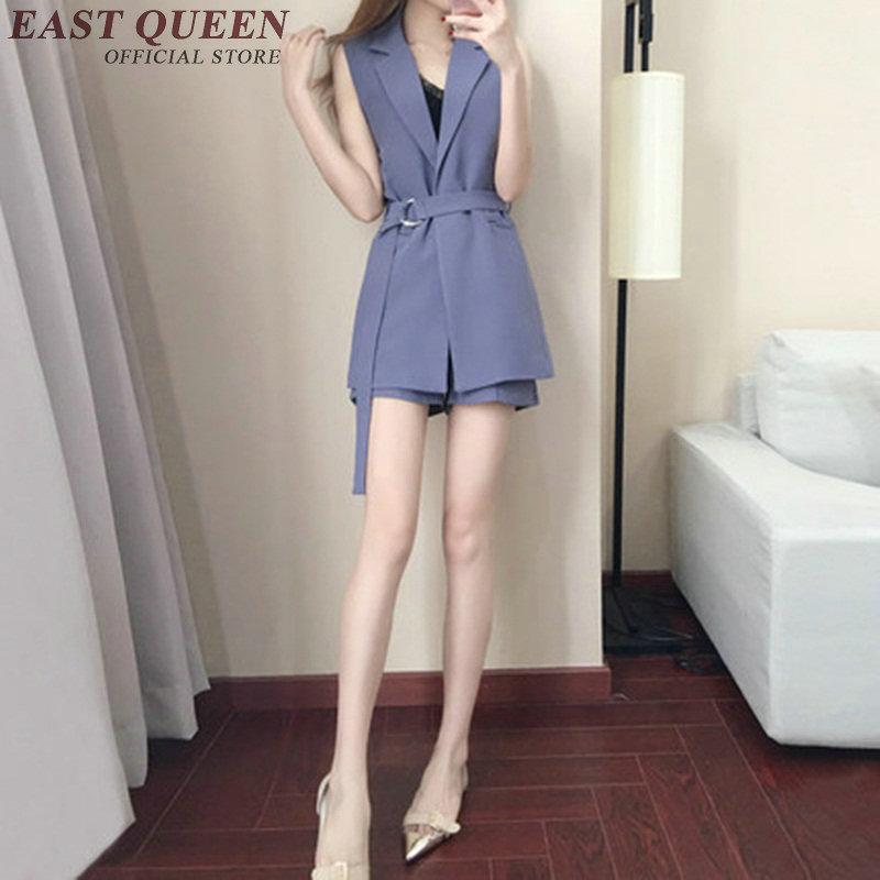 Jupe Femmes Costumes H Blazer Avec Et Shorts Élégante D'été Set Vêtements 1 2 Nn0452 Style La TSS01q