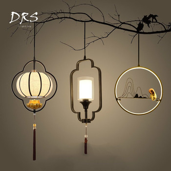 New Chinese Small Chandelier Lighting Hall Dining Hall Corridor Bed Head Restaurant Chinese Style Lustres Hanglamp Deco Maison