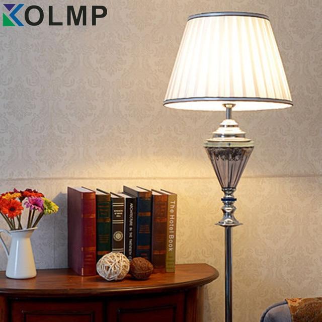 Elegante Mode Kristall Lampe Stand Sofa Ecke Schlafzimmer Lampe Mit Stoff  Lampenschirme Piantana Lampada
