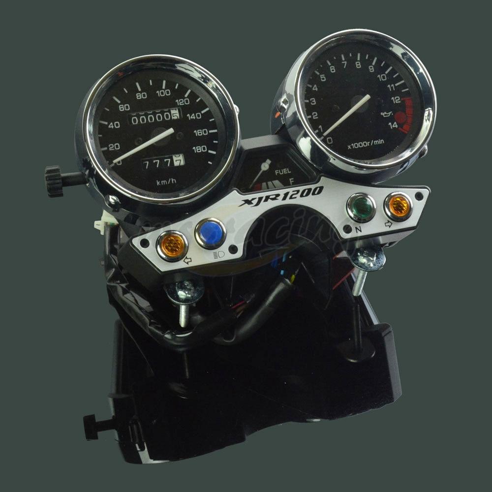 Motorcycle 180 Tachometer Odometer Instrument Speedometer Gauge Cluster Meter For YAMAHA XJR 1200 XJR1200 94-97 94 95 96 97 15000rpm motorcycle universal lcd digital speedometer odometer tachometer motorbike fuel meter water temperature gauge