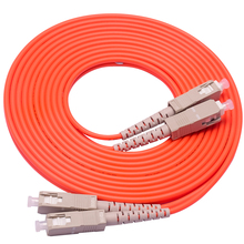 Optical Fiber Jumper Patch Cord Cable,SC/UPC-SC/UPC,3.0mm Diameter,OM1 Multimode 62.5/125,Duplex шнур оптический соединительный sc sc upc sm 9 125 duplex 2 м