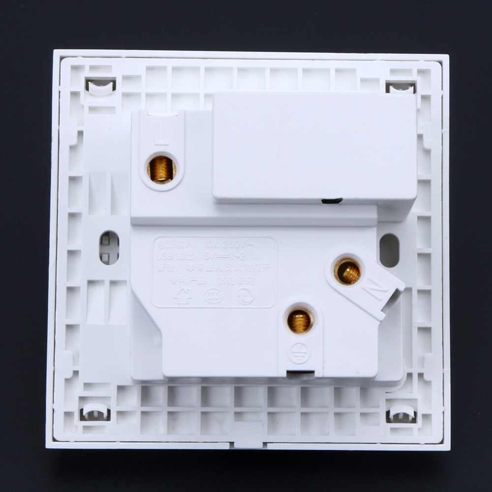 Двойной с usb-портом, светодиодная 2.1A электрическое настенное зарядное устройство адаптер переключатель мощность зарядная док-станция Outlet панель