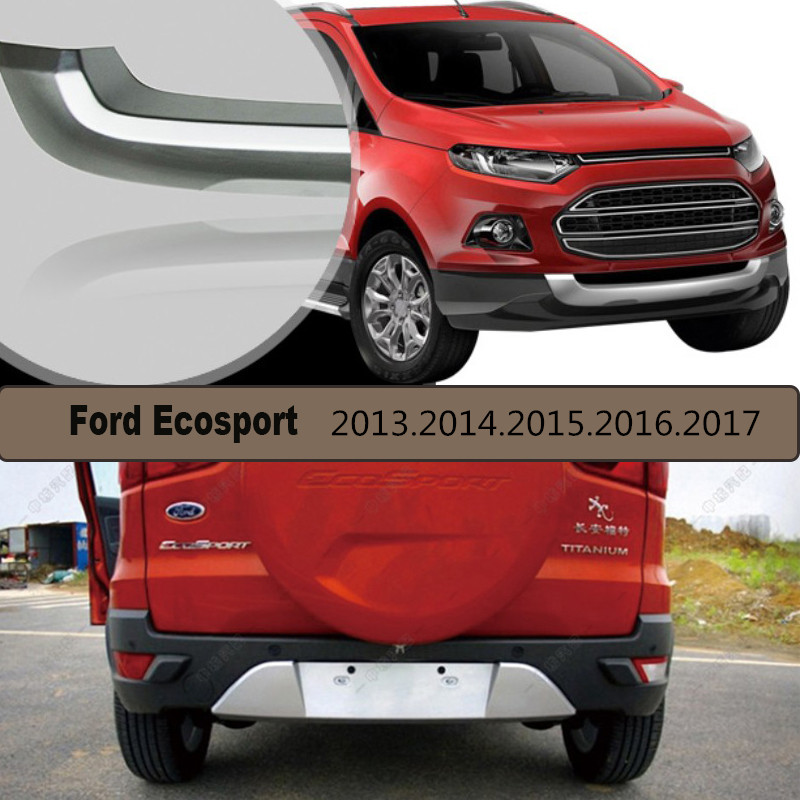 Auto Bumper Protector Guard Skid Plate For Ford Ecosport 2013.2014.2015.2016.2017 Brand New ABS Front+Rear Car Accessories boutique stainless steel front rear bumper protector guard skid plate 2pcs for volk swagen vw tiguan 2013 2014 2015