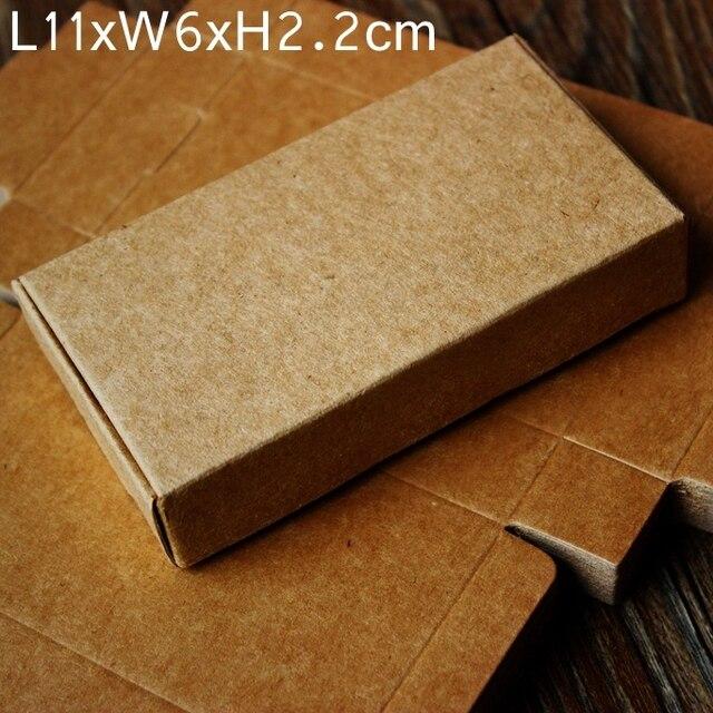 Kraft Boite De Papier A La Main BRICOLAGE Savon Carte Visite Cadeau Boites 11x6x2