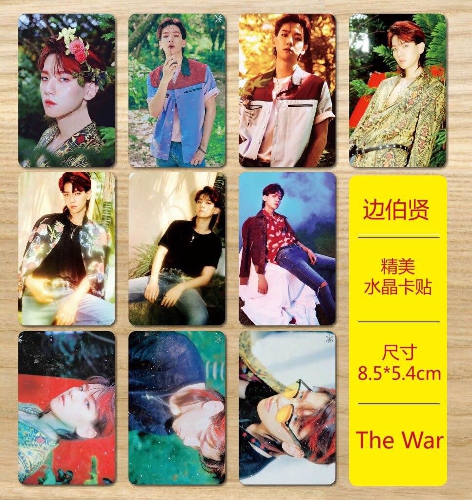[MYKPOP]EXO BAEKHYUN THE WAR Photo Album Crystal Sticker 10pcs/set SA18041518