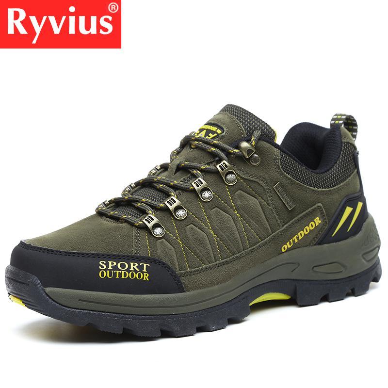 Lista dos ryvius Outono E Inverno Tamanho Grande Casal Sapatos Ao Ar Livre dos homens Não-deslizamento Tênis Para Caminhada Respirável Caça Turismo Caminhadas sapatos