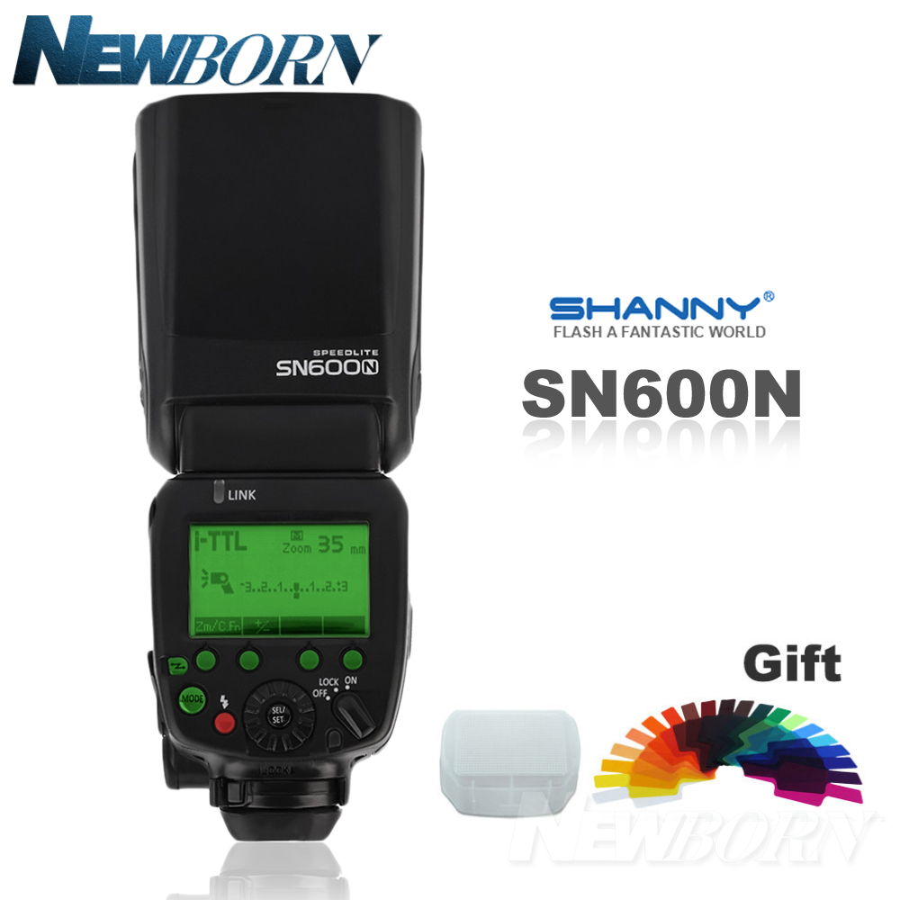 SHANNY SN600N je-TTL HSS 1/8000 s Flash Speedlite pour Nikon D7300 D7200 D7100 D7000 D5500 D5300 d5200 D5100 D5000 D750 D610 D600