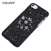 USLION Phone Cases For iPhone 7 6 6s Plus 5 5S SE Starry Space Saturn Planet Star Case Hard PC Back Cover Capa Coque For iPhone7(China)