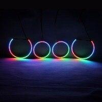 RGBW Angel Eyes Quay Vòng Lights DRL LED Cán Ánh Sáng Đa Màu Điều Khiển Không Dây RF Đối Với BMW E88 E82