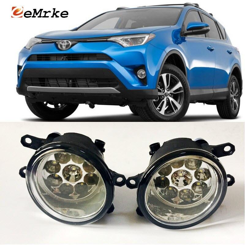 EEMRKE Car-Styling For Toyota RAV4 RAV-4 2015 2016 2017 SMD 9-Pieces Led Halogen Fog Lights 12V 55W Fog Head Lamp