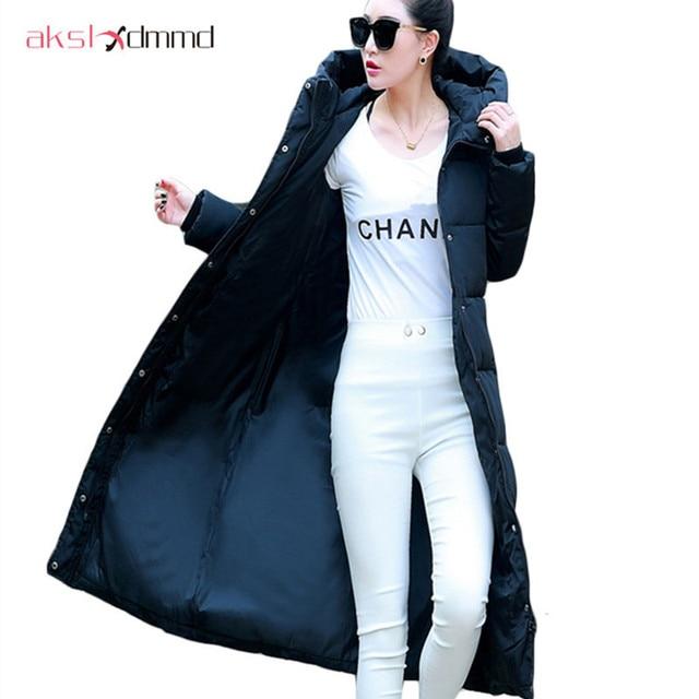 AKSLXDMMD Femmes Veste D hiver 2017 Nouvelle Grande Taille Slim Longue  Section de Manteau Femelle 8f055f09d803