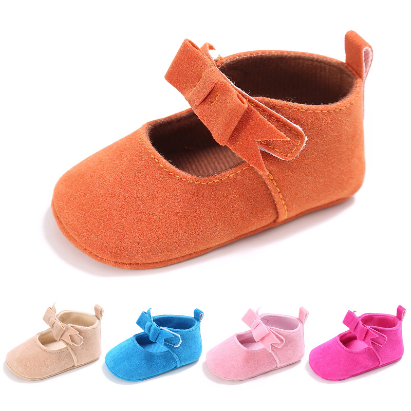 New arrival Princess girls bow First walkers Crib Baby Moccasins soft bottom Pu leather Infant Prewalkers Baby Shoes