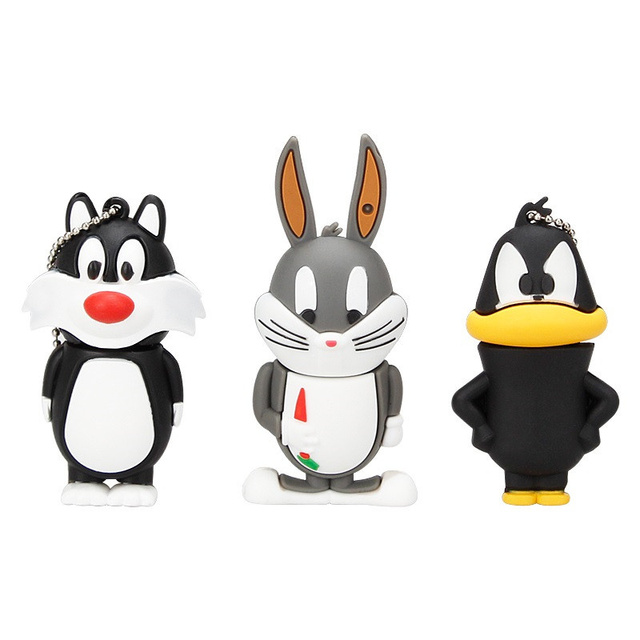 cartoon crow duck cat series usb flash drive external storage 2.0 4GB 8GB 16GB pen drive 32GB 64GB U disk pendrive flash memory