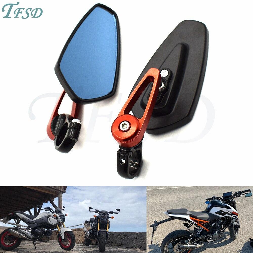 Мотоциклетное алюминиевое универсальное боковое зеркало 7/8 дюйма 22 мм на руль для KTM Duke125/200 BMW Yamaha Honda Suzuki