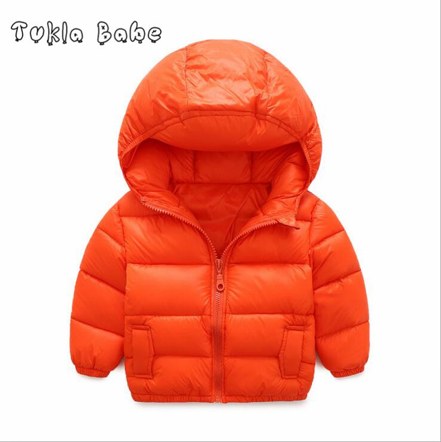 New baby coat warm winter pure color kids jacket comfortable cotton boys girls jacket for children clothing free shipping