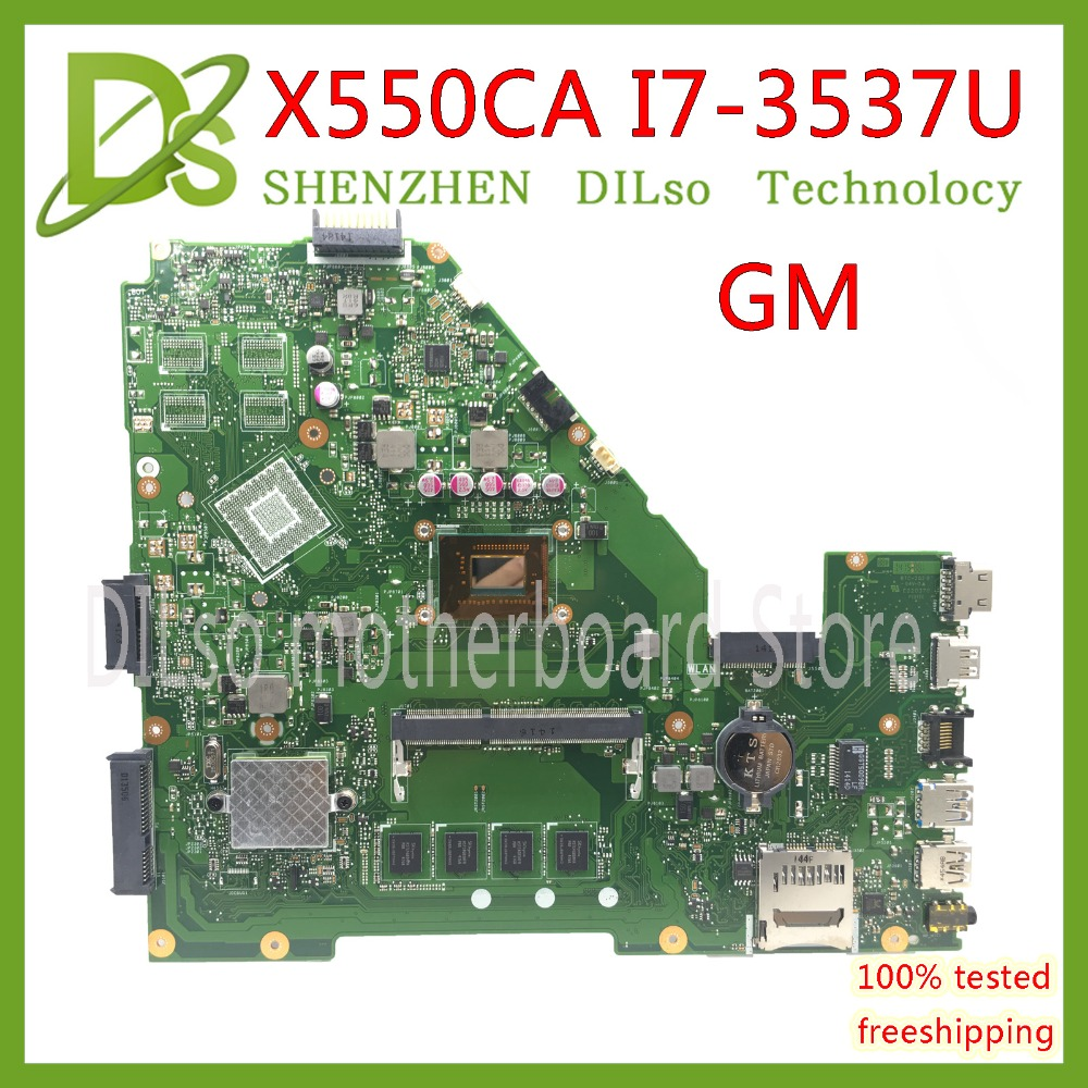 KEFU X550CA For ASUS X550 X550C X550CA X550CL Laptop motherboard X550CA mainboard I7-CPU GM 100% WORK Test original motherboard