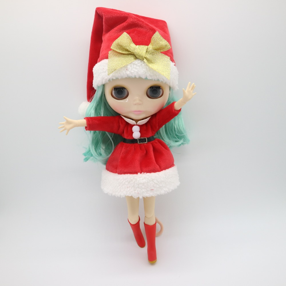 Green hair Nude Blyth Doll Factory doll Suitable For DIY