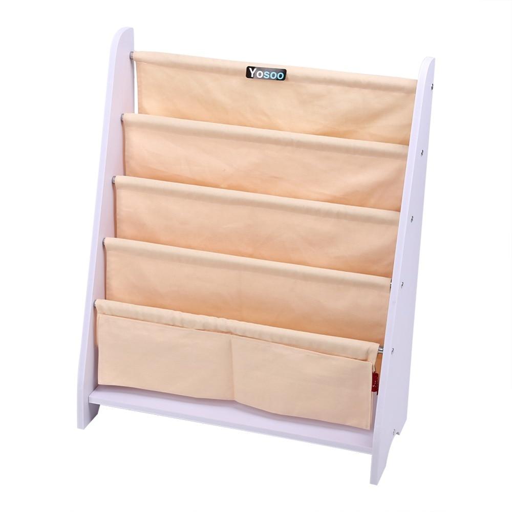 Overzeese Childrens Kids Boekenkast Rack Sling Opslag Slaapkamer Speelkamer Boek Plank Mounts Houder Planken