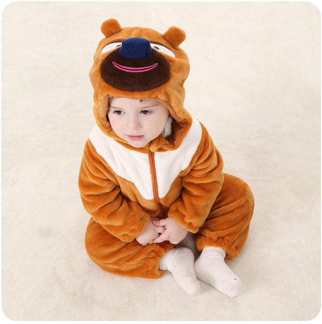 Fall 2017 Long Sleeve Autumn Hooded Unisex Newborn Baby Boys Girls Clothes Cute Cartoon Baby Bear Romper puseky 2017 infant romper baby boys girls jumpsuit newborn bebe clothing hooded toddler baby clothes cute panda romper costumes