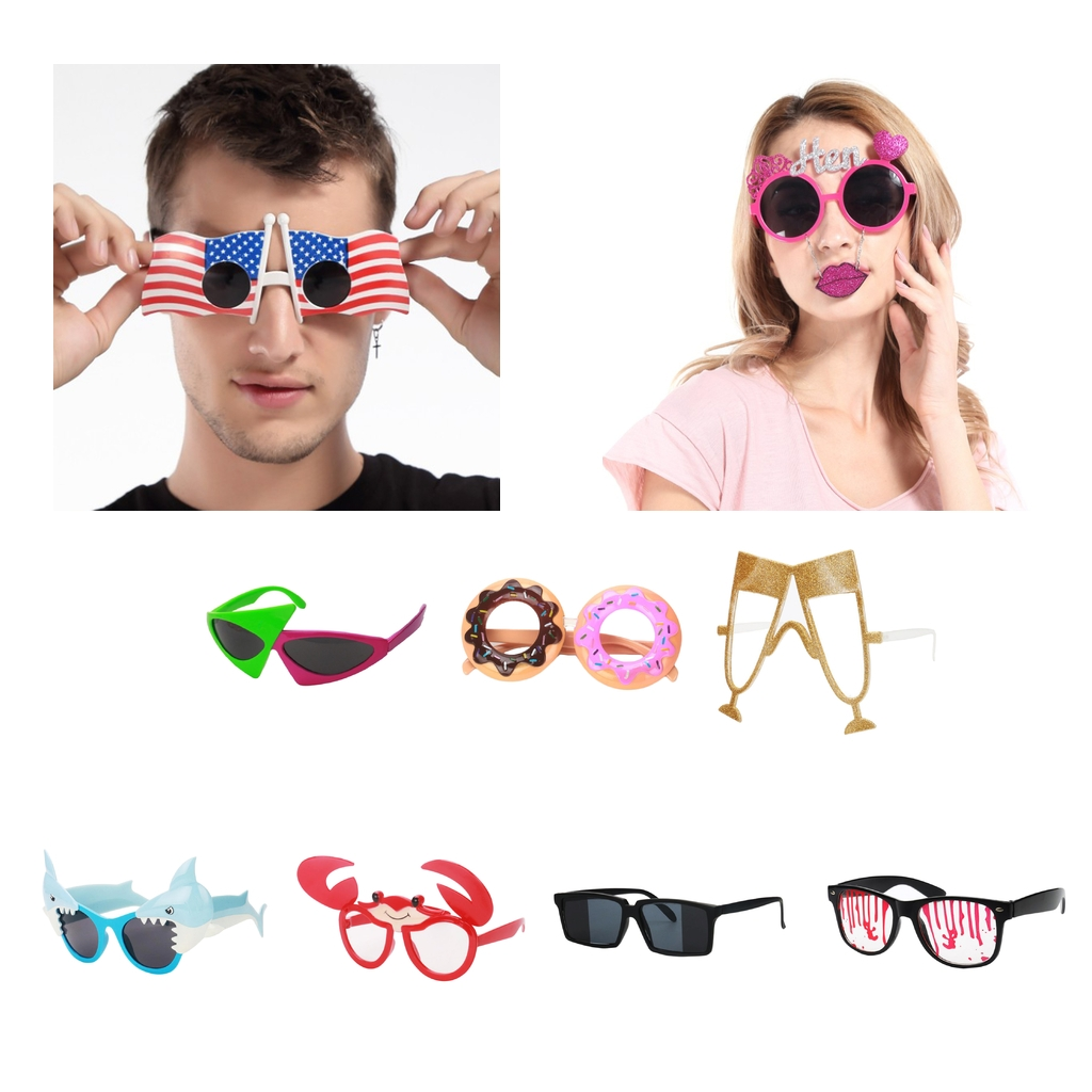 Novelty Party Sunglasses Funny Shark Shaped Glasses Photo Props Kids Adult