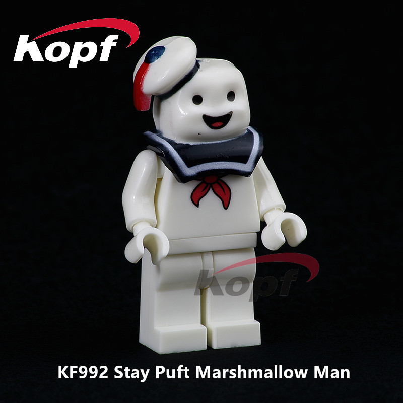 KF992 Single Sale Super Heroes Stay Puft Marshmallow Man The Human Finn Dolls Building Blocks Education For Children Toys Gift single sale super heroes red yellow deadpool duck the bride terminator indiana jones building blocks children gift toys kf928