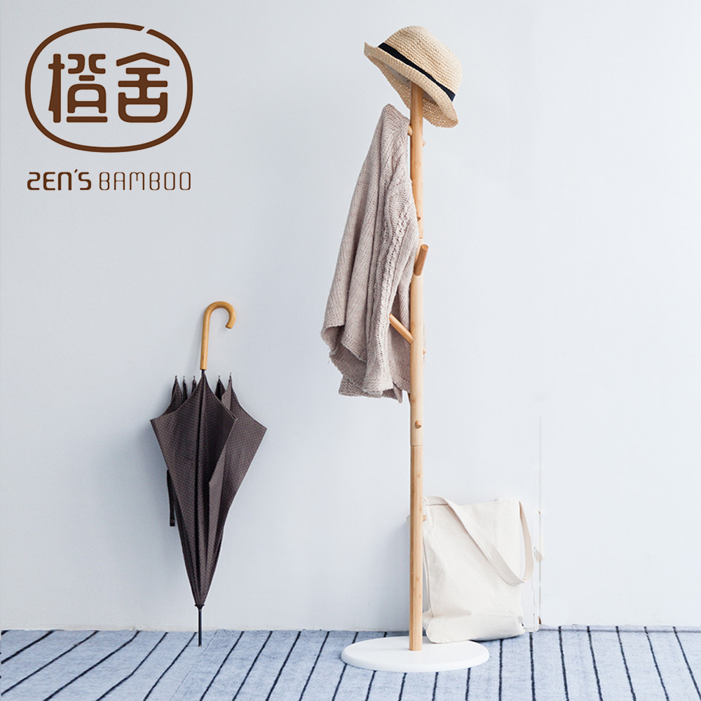 Hat Rack Coat Stand Bamboo Clothes Rack Hall Tree With 6 Hooks Entryway Organizer Home Furniture