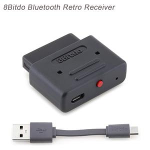 Image 1 - Original 8 Bitdo Bluetooth receptor Retro trabajo para SNES/SFC30 NES30/SF30 Pro/NES Pro/PS3 /controladores de juego PS4/SN30