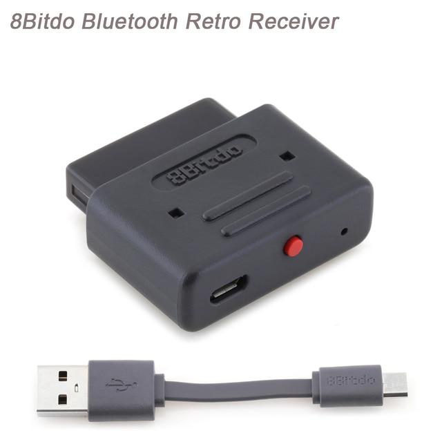 Original 8 Bitdo Bluetooth receptor Retro trabajo para SNES/SFC30 NES30/SF30 Pro/NES Pro/PS3 /controladores de juego PS4/SN30