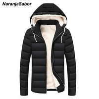 NaranjaSabor 2017 Winter Warm Parkas Mens Jackets Thick Hooded Men S Coats Male Overoats Casual Outwear
