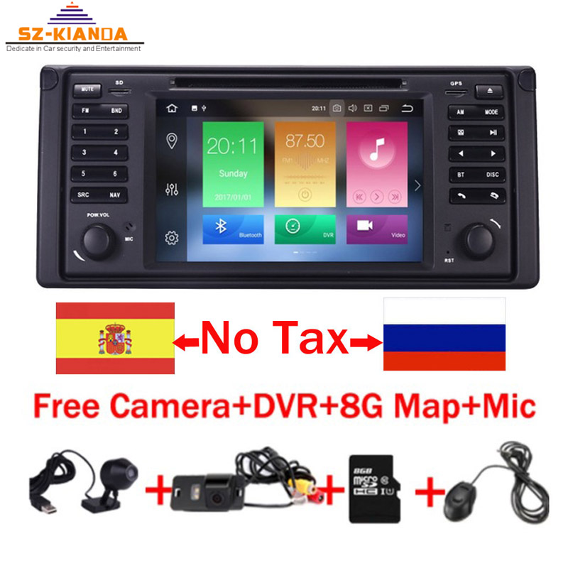 7HD 8 Core Android 9.0 GPS Navigation 7 Car DVD Player for BMW E39 5 Series 97-07 Range Rover 02-05 with Bluetooth RDS Canbus