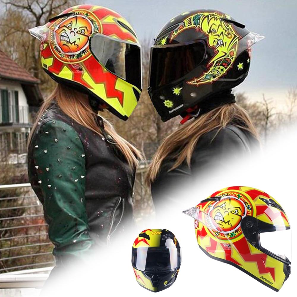 Capacete para corrida de moto ciclista rosto cheio moto rcycle capacete para homem casque moto dot aprovado