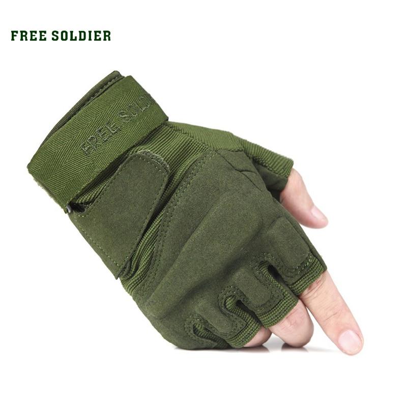 Prix pour Sport en plein air camping randonnée equitation escalade gants tactiques gants vélo hommes de gant moitié doigt gants classique LIVRAISON SOLDAT