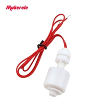 110/220v PP material Horizontal Float Switch Down 45mm MK-PFS4510 Hollow float switch in sensors Water Level Liquid Sensor liquid level float switch sewage pool water level controller cable type liquid level switch