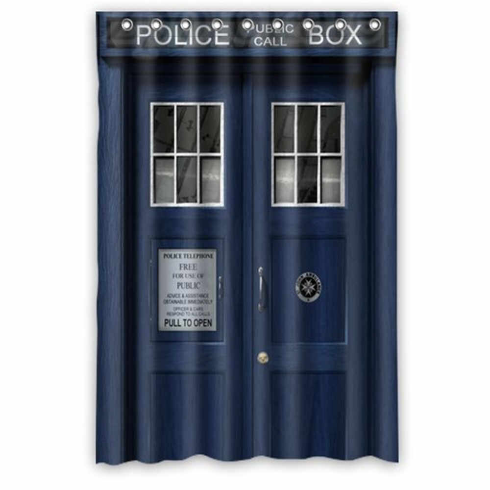 Custom Doctor Who tardis The Doctor Shower Curtain High Quality Waterproof Polyester Fabric Bathroom Shower Curtains