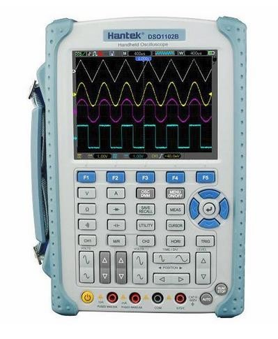Hantek DSO1202BV Handheld Oscilloscope 2 Channels 200MHz oscilloscope 6000 Counts DMM wi ...