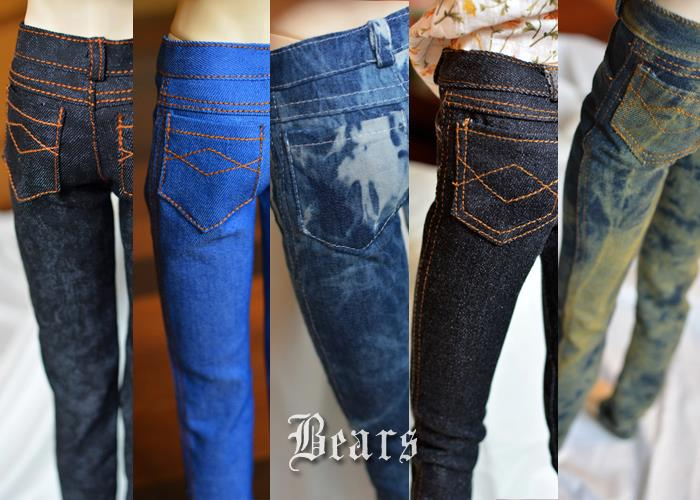 1/3 BJD Doll clothes bjd jeans universal denim trousers - 4 colors 1 4 1 3 bjd doll clothes soom british style retro uniforms series seven