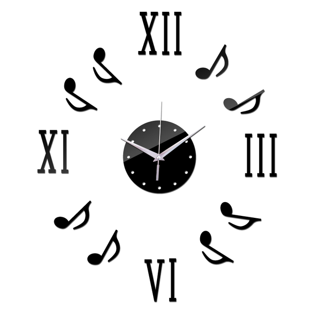 new roman numerals musical notes decor home wall stickers brief