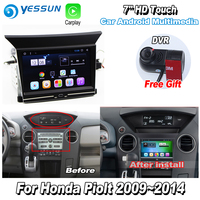 YESSUN For Honda Pilot 2009~2014 Car Android Carplay GPS Navi maps Navigation Player Radio Stereo Multimedia HD Screen NO CD DVD
