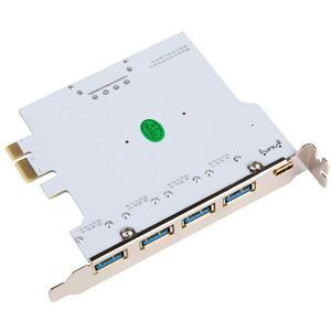 Image 3 - Ekleyin Kart USB 3.0 PCI E Tip C Genişleme Kartı PCI Express PCI E USB 3.0 Denetleyici 5 Port + 1 Port USB 3.1 PCI E Kart Adaptörü