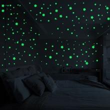 Glowing Stars Sticker for Home Decor 127 pcs Set