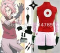 Disfraces Cosplay Naruto Haruno Sakura Deluxe segundo conjunto Uniforme Ropa de Lujo + conjunto de Armas