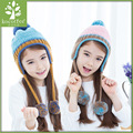2016 New Winter High Quality Knitted Hats Baby girl Hats For Children Cap Kids Skullies Beanies Warm Hat girl Solid Color Hat