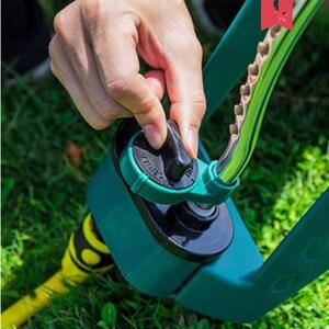 Image 3 - Arroseur en balançoire, tuyau darrosage réglable pour lirrigation de la pelouse du jardin et des extrémités