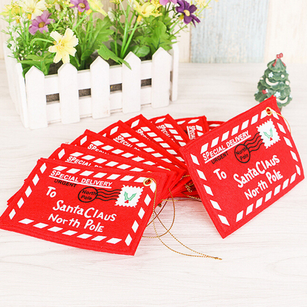 5pcs Red Christmas Envelope Christmas Greeting Cards Candy Bag ...