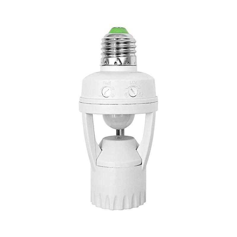 Induction Infrared Motion Sensor LED lamp Base Holder + E27 AC 230V 110V LED Bulb Holder For Stair Hallway Night light